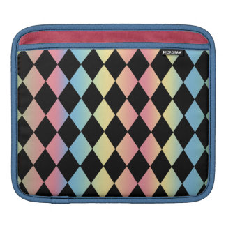 Harlequin Pattern-with Pastel Background iPad Sleeve