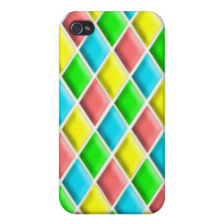 Harlequin Pern in Bright Colors iPhone 4/4S Cover