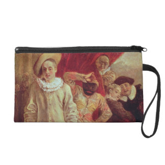 Harlequin, Pierrot and Scapin, Actors from the Com Wristlet Purses