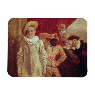Harlequin, Pierrot y Scapin, actores de COM Imán Rectangular