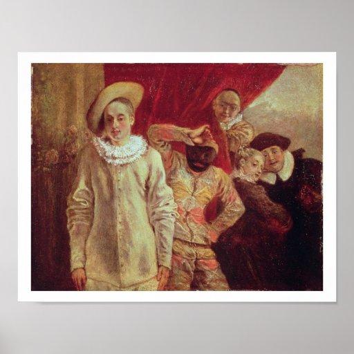 Harlequin, Pierrot y Scapin, actores de COM Posters