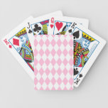Harlequin Pink and White Card Decks