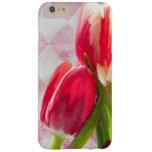 Harlequin Pink, Cream Tulip iPhone 6 plus case