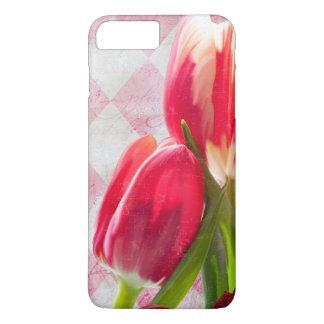 Harlequin Pink, Floral Tulip iPhone 7 plus case