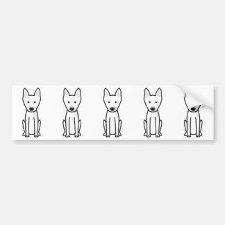 Harlequin Pinscher Dog Cartoon Bumper Sticker