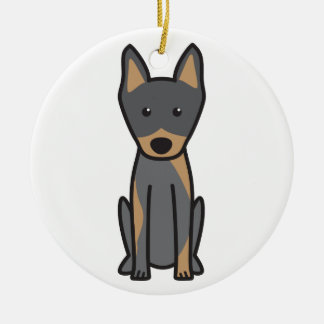 Harlequin Pinscher Dog Cartoon Ceramic Ornament