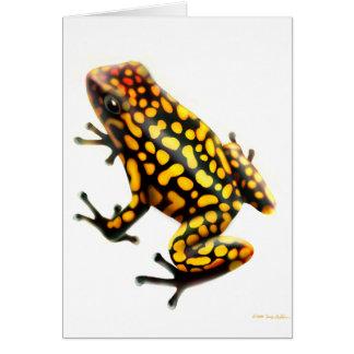 Harlequin Poison Dart Frog Card