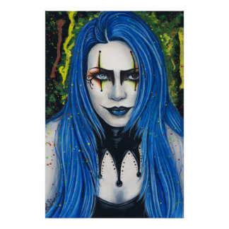 Harlequin Poster Gothic Colorful Portrait