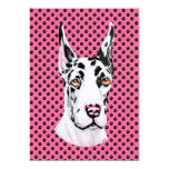 Harlequin Pup Pink Cropped Event or Party Invite