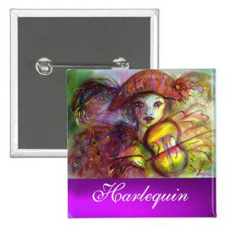 HARLEQUIN purple amethyst Button