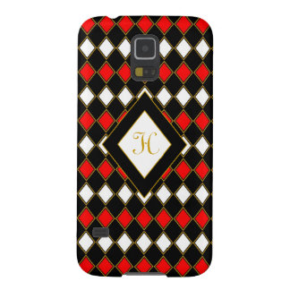 Harlequin Red & Gold Galaxy S5 Case