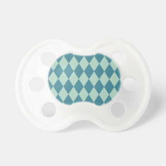 Harlequin Seafoam and Teal Baby Pacifiers
