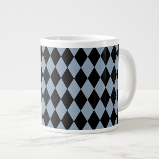 Harlequin Slate and Black Large Coffee Mug