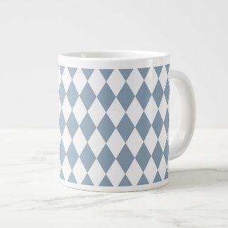 Harlequin Slate and White Large Coffee Mug