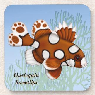 Harlequin Sweetlips Reef Fish Cork Coaster