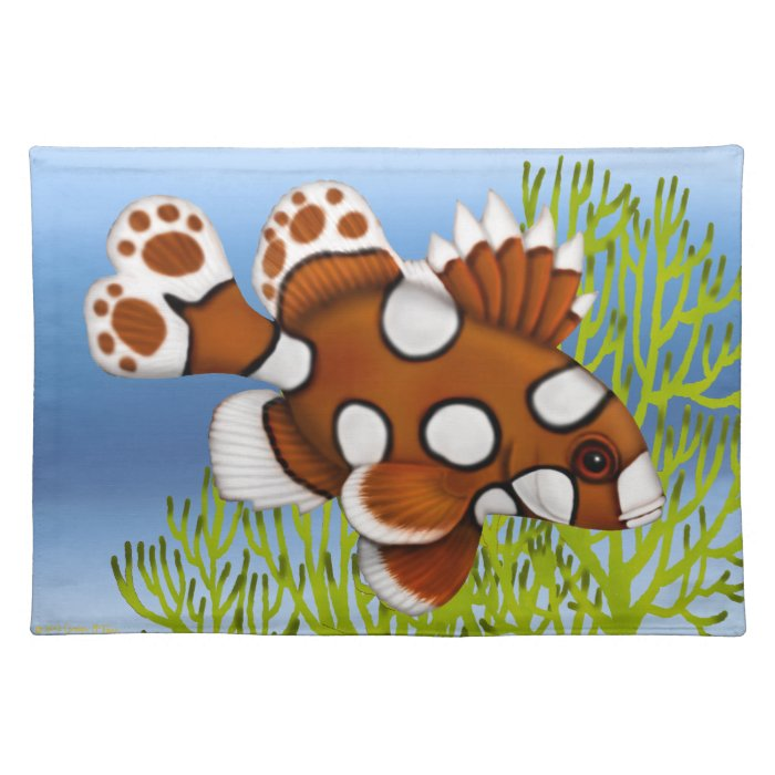 Harlequin Sweetlips Reef Fish Placemats