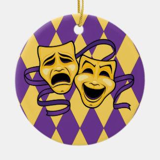 Harlequin Theatre Mask Ornament