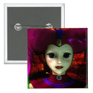 Harlequin Toy 2 Inch Square Button