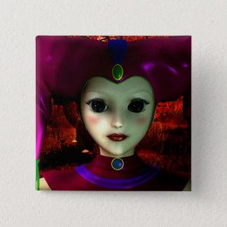 Harlequin Toy Pinback Button