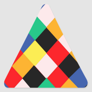 Harlequin Triangle Sticker