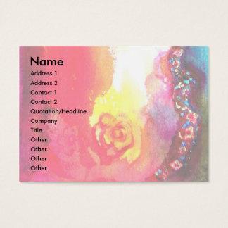 HARLEQUIN / Venetian Carnival ,Theater, Red Rose Business Card