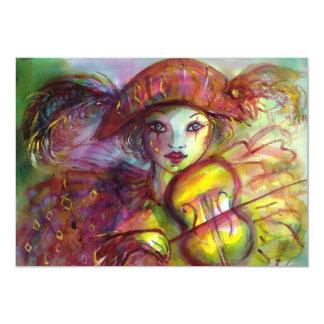 HARLEQUIN / Venetian Masquerade / Mardi Gras Card