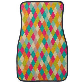 Harlequin vintage pattern car mat