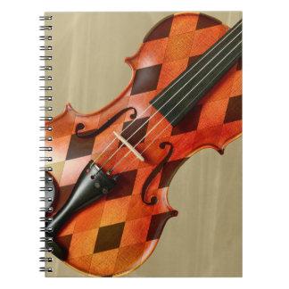 Harlequin Violin Notebook