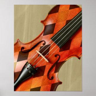 Harlequin Violin Poster