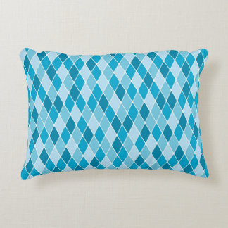 Harlequin winter pattern accent pillow