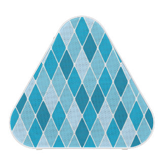 Harlequin winter pattern bluetooth speaker