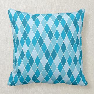 Harlequin winter pattern throw pillow