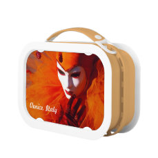 Harlequin With Orange Carnival Costume Lunch Box