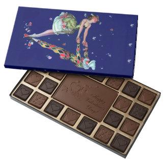 Harlequin y bailarina chocolate de 2 el día de San Caja De Bombones Variados Con 45 Piezas