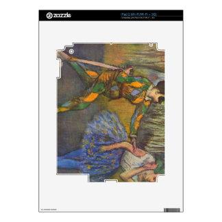 Harlequin y Colombine de Edgar Degas Calcomanía Para El iPad 2