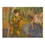 Harlequin y Columbine de Edgar Degas Postal