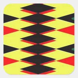 Harlequin Yellow Jokers Deck Square Sticker