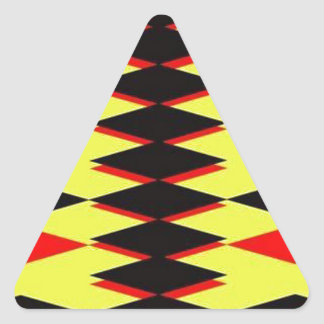 Harlequin Yellow Jokers Deck Triangle Sticker