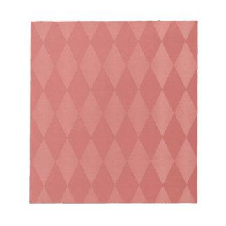 Harlequins de color salmón oxidados bloc de papel
