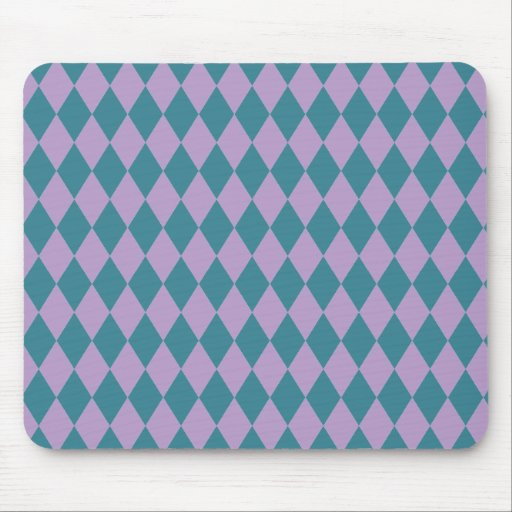 Harlequins Lilac and Teal Mouse Pad