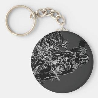 harley2. basic round button keychain