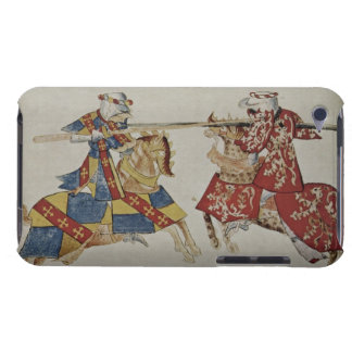 Harley 4205 f.366 Jousting Knights, c.1445 (vellum Case-Mate iPod Touch Case