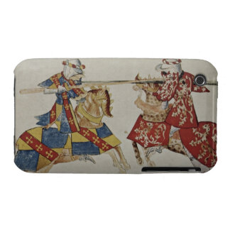Harley 4205 f.366 Jousting Knights, c.1445 (vellum iPhone 3 Case-Mate Case
