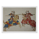 Harley 4205 f.366 Jousting Knights, c.1445 (vellum Posters