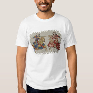 Harley 4205 f.366 Jousting Knights, c.1445 (vellum Tee Shirt
