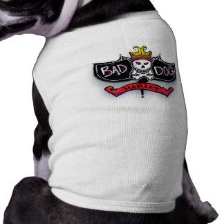 Harley - Airbrushed Name Bad Dog Skull & Crossbone T-Shirt