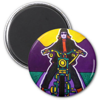 Harley Babe by Piliero 2 Inch Round Magnet