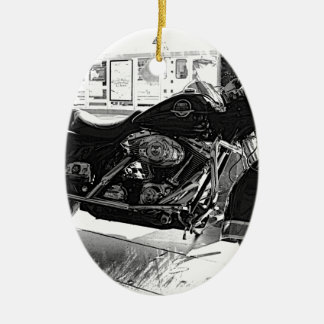 Harley Ceramic Ornament