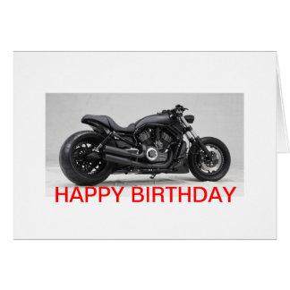 Harley Davidson birthday map Card