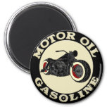 Harley Davidson - Bobber - engine oil - Gasoline 2 Inch Round Magnet
